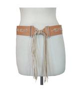 Olga Santini Hippie Leather Belt Fringe - $25.00