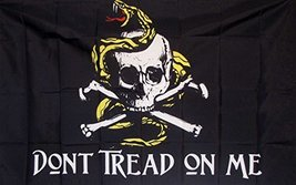 Don't Tread On Me Gadsden Flag 3' X 5' Pirate Theme Banner - $9.95