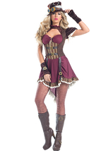 Sexy Be Wicked Steampunk Rider Victorian Halloween Costume W/WO HOSE BW1548 - $68.00+