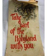 """Vintage """"Take Part Of The Holyland With You"""" Tri Fold Made In Israel Folio - $67.50"""