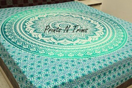 Large Hippy Wall Hanging Ombre Mandala Tapestry Bedspread Beach Sheet Throw - $25.00