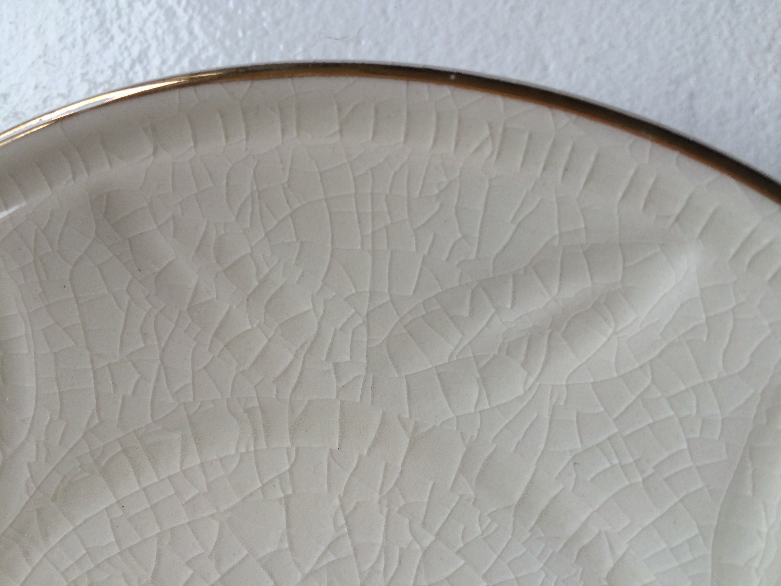 Ariodante Anthropologie  Crackle Saucer tea snack side dessert plate