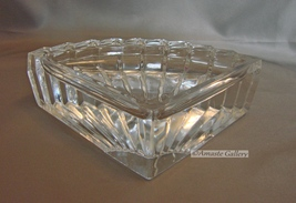 CRISTAL D' ARQUES GENUINE LEAD CRYSTAL FAN SHAPED DISH - $20.99