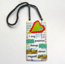Motivational Art Mini Hanging Mixed Media Ornam... - $5.00