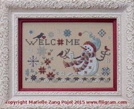 Welcome Winter cross stitch chart Filigram - $9.90