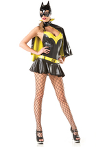 Be Wicked Sexy Batty Bat Girl Batman Superhero Halloween Costume BW1421 - $71.00+