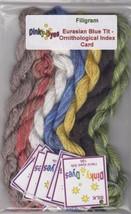SILK FLOSS PACK Eurasian Blue Tit Index Card cross stitch Filigram Dinky Dyes - $25.20