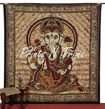 Indian Lord Ganesha Queen Tapestry God Wall Hanging Throw Cotton Textile... - $463,31 MXN