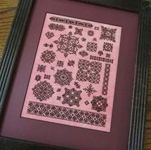 The Burgundy Sampler cross stitch chart T.A. Smith Designs  - $9.00