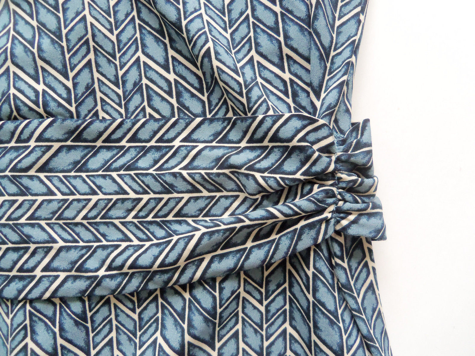 BCBG MAXAZRIA Polyester Blend Dress Blue Geometric Print, Size M, NWHT