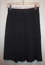 JONES NEW YORK 100% Silk Pleated Skirt, Black, Polka Dot, Career, Size 4... - $33.29