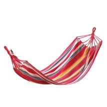 Hammock Chair, Lightweight Cotton Outdoor Swing Hammock Bed Red - €27,99 EUR