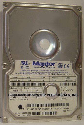 13.6GB 3.5in IDE Drive Maxtor 91362U3 Tested Good Free USA Ship Our Drives Work
