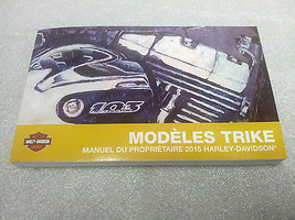 2015 Harley Davidson Trike Models FRENCH Owner's Manual 83390-15FR - $30.67