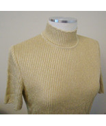 St. John- Fashion Short Sleeve  Top, Size - 6 .Gold  Made in USA - $37.36