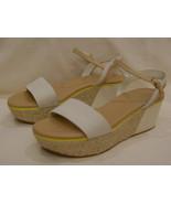 COLE HAAN Fashion  Platform/Open Toe Sandals  Size-10 B Beige/Brown Leather - $56.06