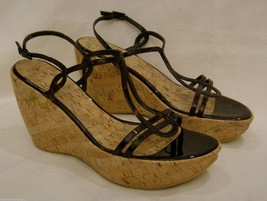 Stuart Weitzman Platform/Open Toe Sandals Size- 9.5M Brown Leather Made ... - $56.06