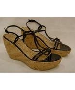 Stuart Weitzman Platform/Open Toe Sandals Size- 9.5M Brown Leather Made ... - $56.06