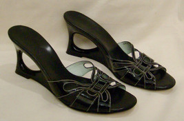 COLE HAAN   Heels/Open Toe Size-6.5 B BlackLeather Made in Brazil - $23.33