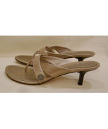COLE HAAN  Slides Heels/Open Toe Size-9.5 B Beige Leather Made in Brazil - $23.33