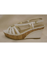 CHARLES by Charles David Platform/Open Toe Sandals Size-9.5 White/Brown - $23.33