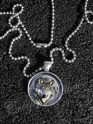 Primary image for Wolf Wolves Moon Night Image Pendant NECKLACEWolf Moon Night Sky animal