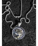 Wolf Wolves Moon Night Image Pendant NECKLACEWolf Moon Night Sky animal - $10.89