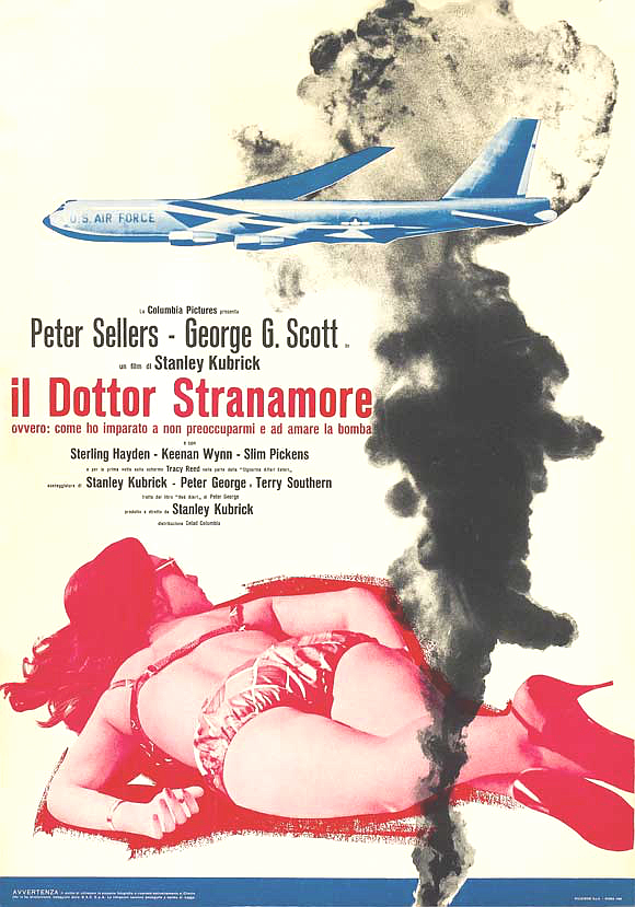 Dr strangelove movie poster 1964 italian
