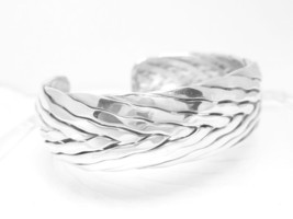 "Artisan Crafted Sterling Silver 6.25"" Woven Domed Cuff Bracelet  - $89.00"