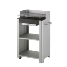 Charcoal BBQ Grill Barbecue Large Cooking Area Portable Storage Shelves ... - $114.68