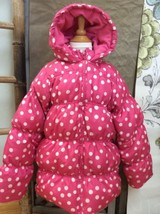 Gymboree Pink Polkadot Puffer Coat Dots Jacket L Glamour Ballerina Large 10 12 - $28.86
