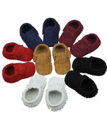 Hot Baby Tassel Soft Sole True Nubuck Leather S... - $6.92 - $7.91