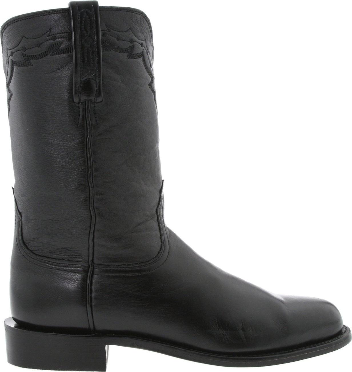 Lucchese Wellington Lonestar Roper Boot - Black - US 11EE - NIB