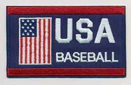 "Baseball Team USA Embroidered Iron-On Patch Size 4"" x 2 1/2"". World Base... - $7.87"