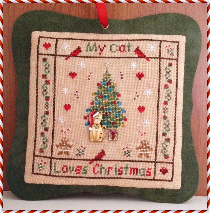 FLOSS BUNDLE My Cat Loves Christmas cross stitch chart MTV Designs