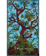 Turquoise Indian Tree of Life Tapestry - $18.06