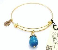 "Authentic Bella Ryann ""December Birthstone Jade"" adjustable wire bangle russi..."