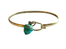 Acorn Tree Charm Bangle Bracelet (Blue) Gleeful Peacock