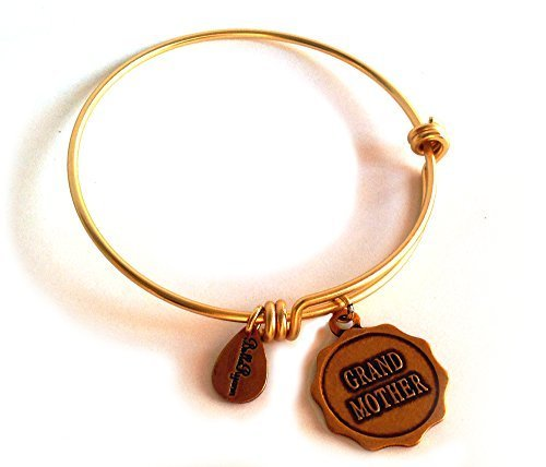 Bella Ryann Early Edition on Round Grandmother Gold Charm Bangle Bracelet