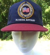 American Association Of State Troopers Florida Retired Snapback Hat Cap ... - $13.98