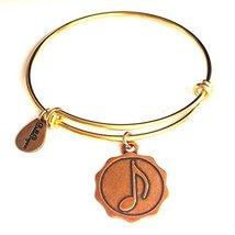 Bella Ryann Music Note Gold Charm Bangle Bracelet