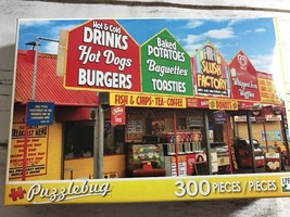 """Puzzlebug Fast Food Stalls"""" 300 Pc. Puzzle Complete - $5.89"""