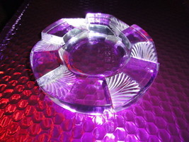 Vintage Lalique French Crystal Art Deco Ashtray With Box Signed - $395.00