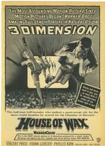 VERY  RARE   HOUSE  OF  WAX   MAGAZINE  AD   ORIGINAL  FULL  PAGE   !! - $49.99