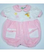 SESAME STREET INFANT BABY GIRLS 3-6M PINK WHITE ZOE ROMPER 1 PC OUTFIT 3... - $7.91