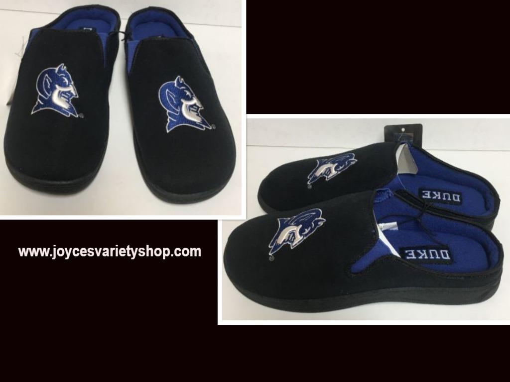 Duke University Blue Devil Men's Cushion Loafers Slippers Shoes Sz 9/10