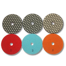 "KENT 3 Steps Premium Quality 4"" DRY 2.5mm Thick Diamond Polishing Pads - $24.95"