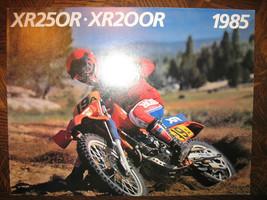 1985 Honda XR250R XR200R Nos Oem Dealer's Brochure XR250 XR200 Xr 250 200 R 85 - $35.88