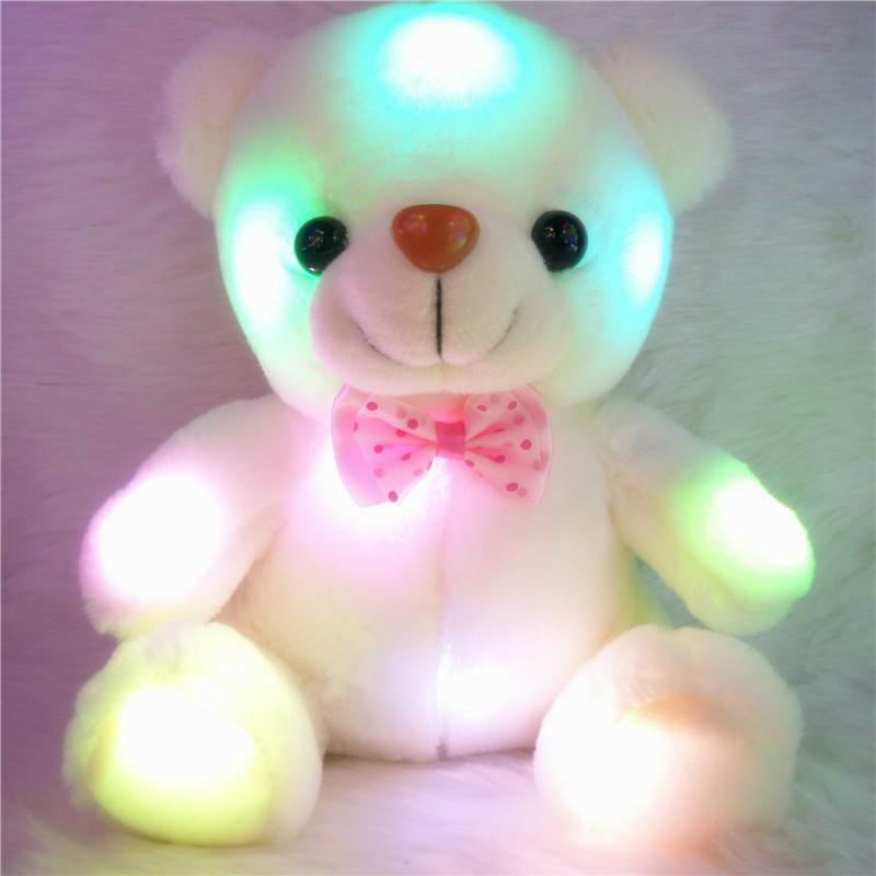 Teddy Bear Led Lighting Animal Light Kids Xmas Gifts Unisex Glowing Stuffed Toys