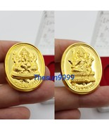 Thai amulets Lord Ganesha back Lord Brahma coin Lucky bring happiness success - $28.50